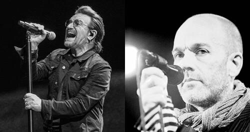 Bono & Michael Stipe