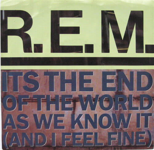 REM It's the End of the World album cover