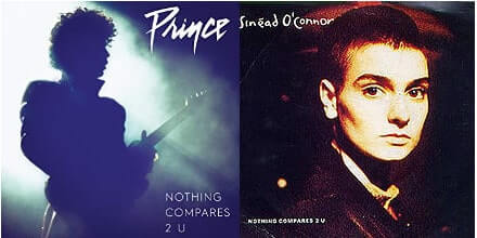 Prince and Sinead O'Connor single covers